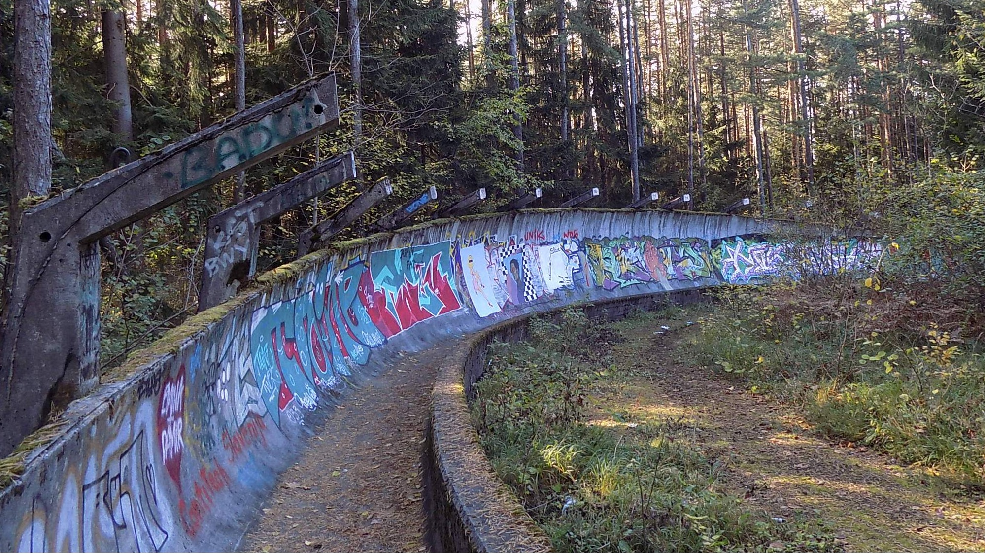 Most beautiful abandoned places - Sarajevo bobsleigh