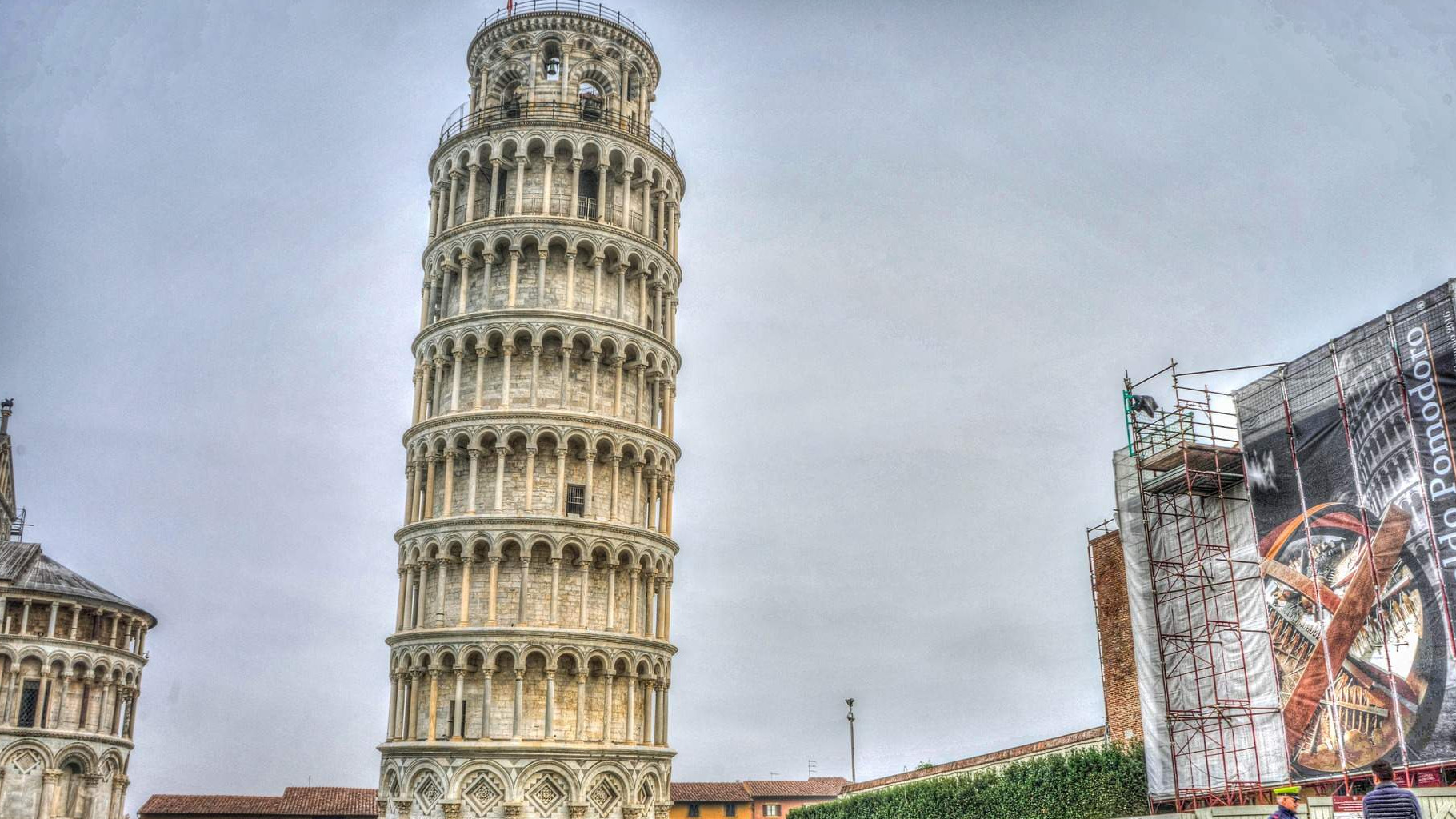 The Leaning Tower of Pisa is Now Leaning Little Less