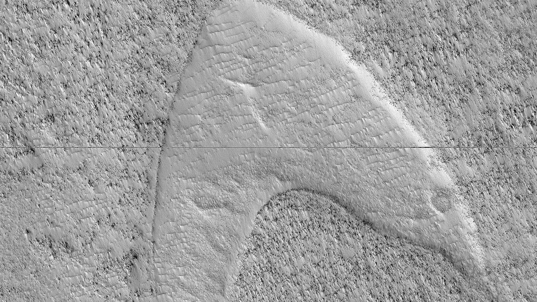 "NASA Just Spotted ""Star Trek"" Starfleet Logo on Mars"